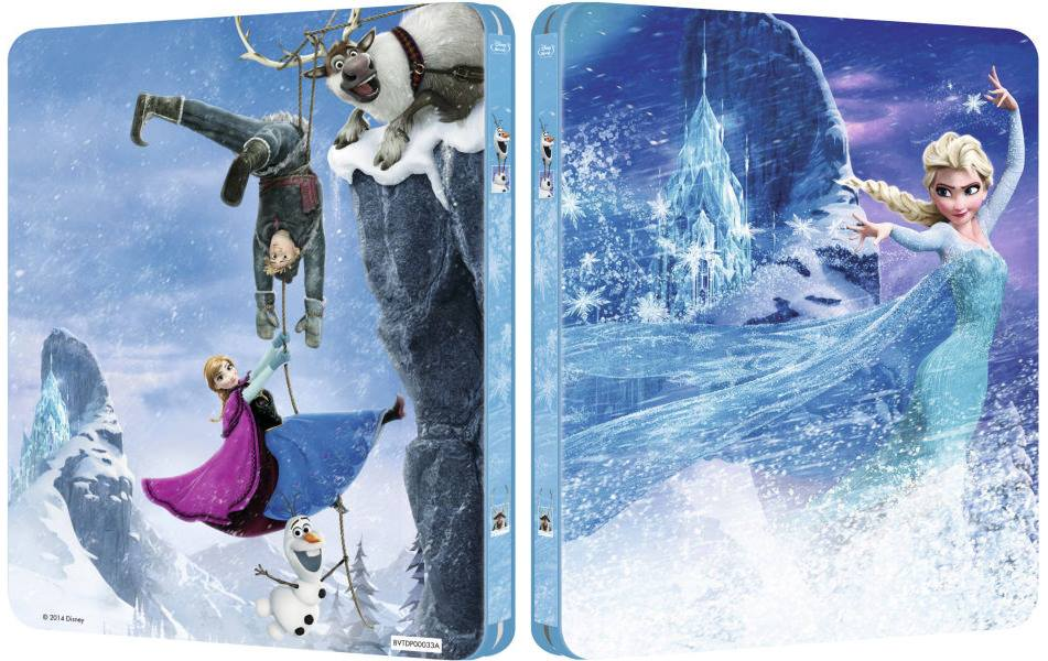 La reine des neiges frozen l arri re du steelbook - Reine des neiges en anglais ...