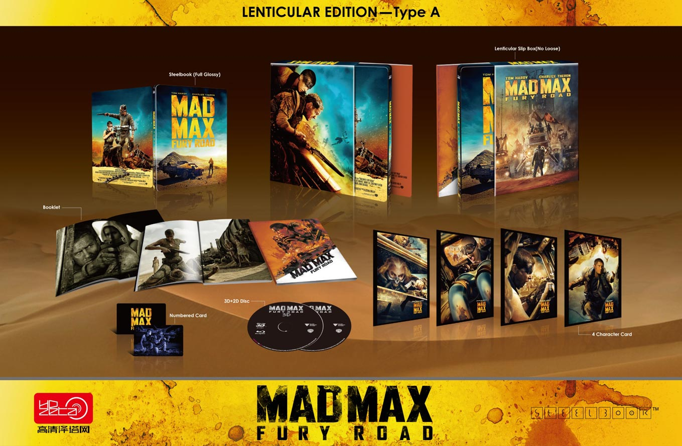 Mad Max Fury Road steelbook hdzeta lentiA