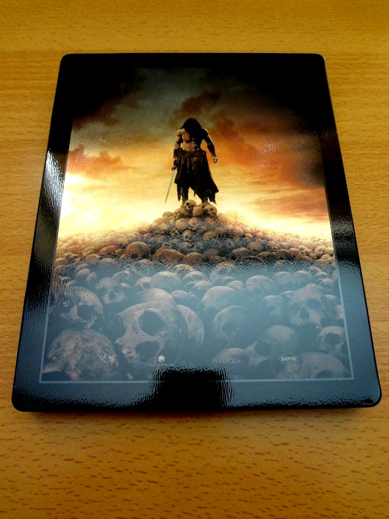 Conan 3D French Embossed Steelbook Back