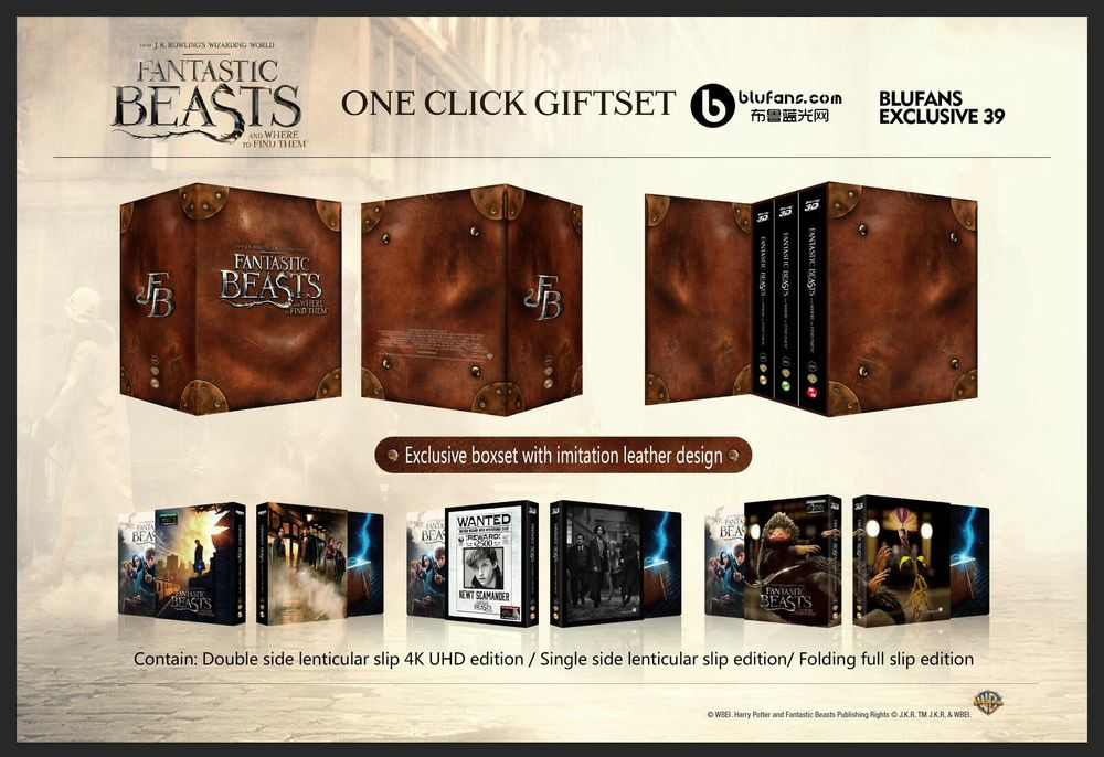 Fantastic Beasts steelbook blufans 2
