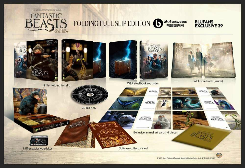 Fantastic Beasts steelbook blufans 3
