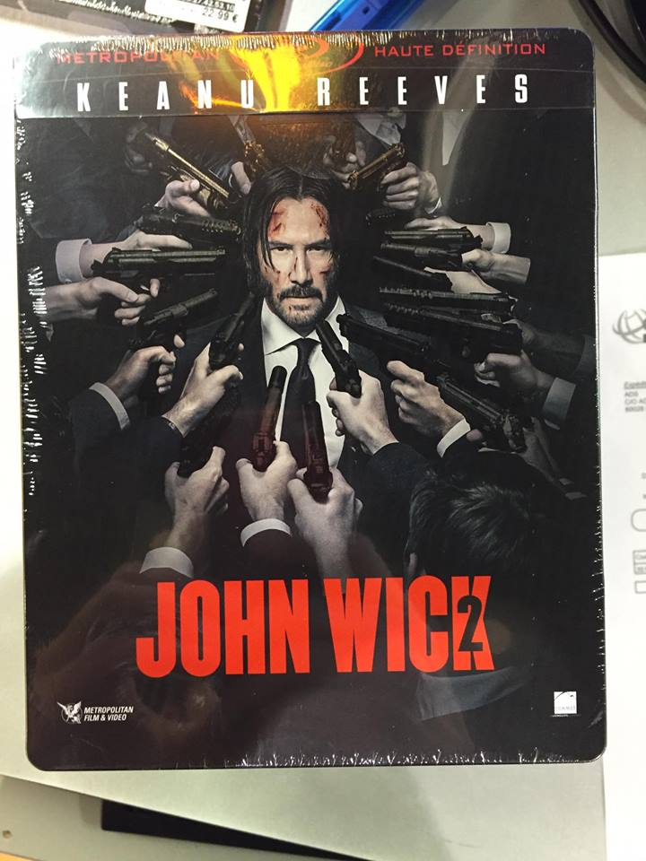 John Wick Chapter 2 Blu Ray Steelbook France Hi Def