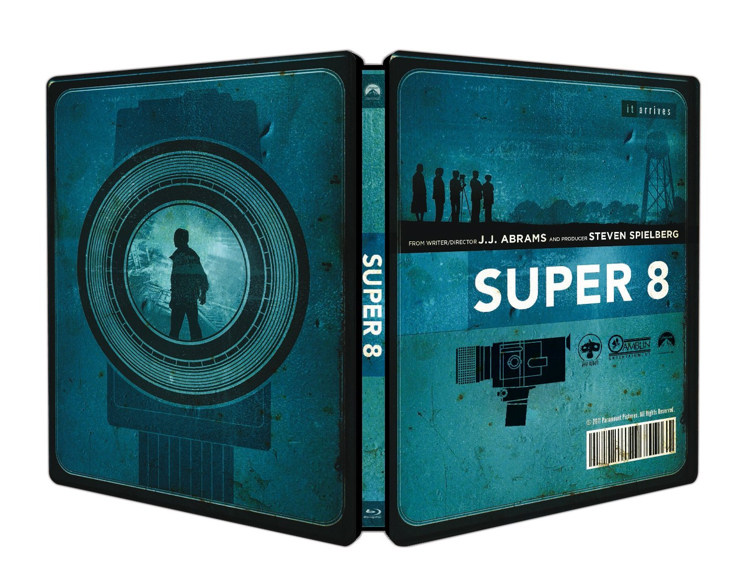 Super 8 film camera, a motion picture camera used to film Super 8mm motion picture format Super 8 ( film), a science-fiction film produced by Steven Spielberg Super 8 .
