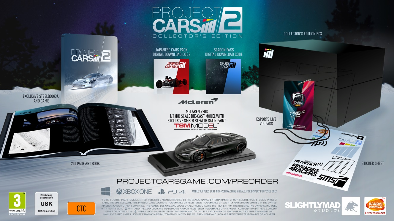 Project Cars 2 collector steelbook
