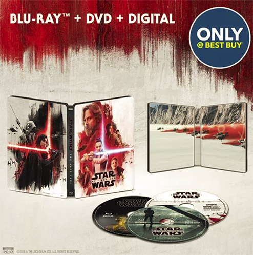 Star wars The Last Jedi steelbook bestbuy 2