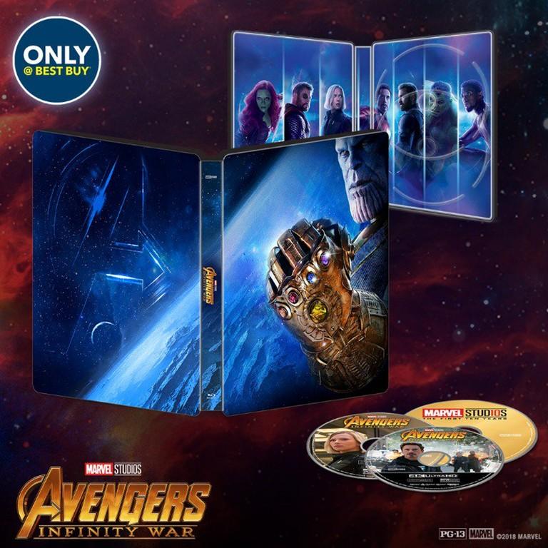 avengers infinity war steelbook bestbuy