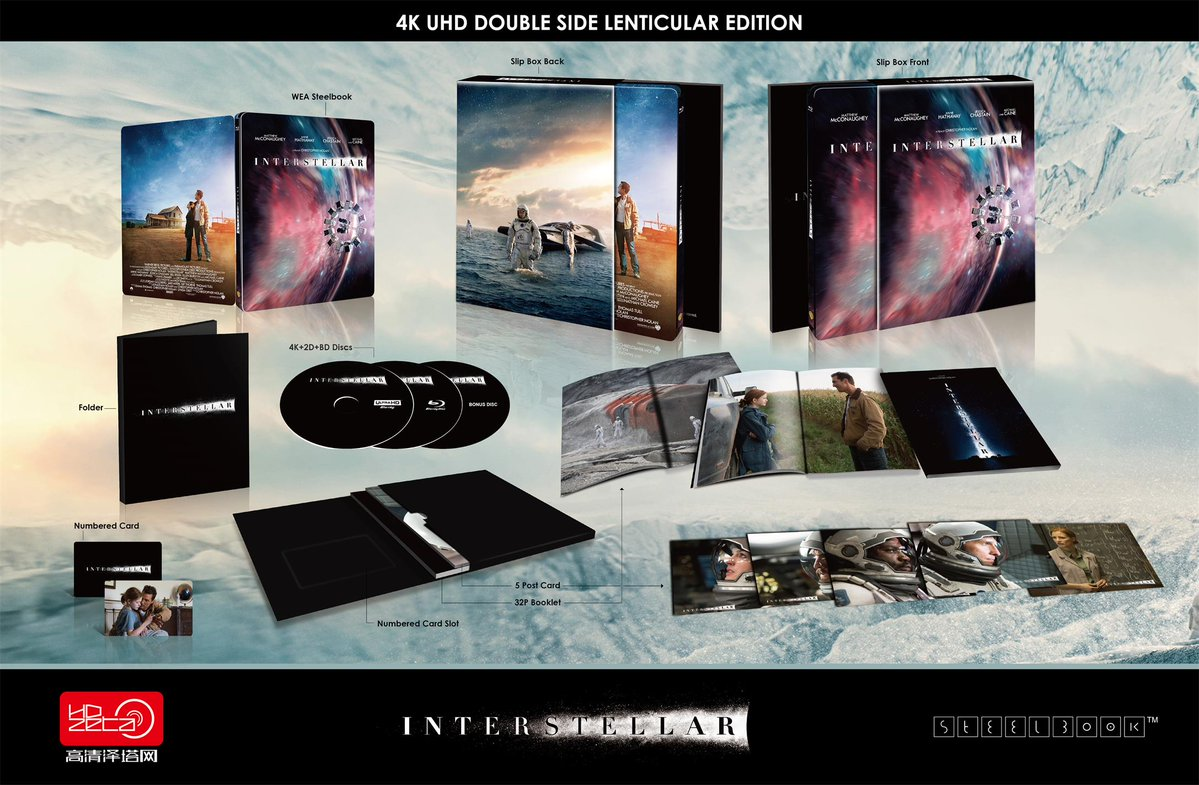 Interstellar steelbook HDzeta 4k