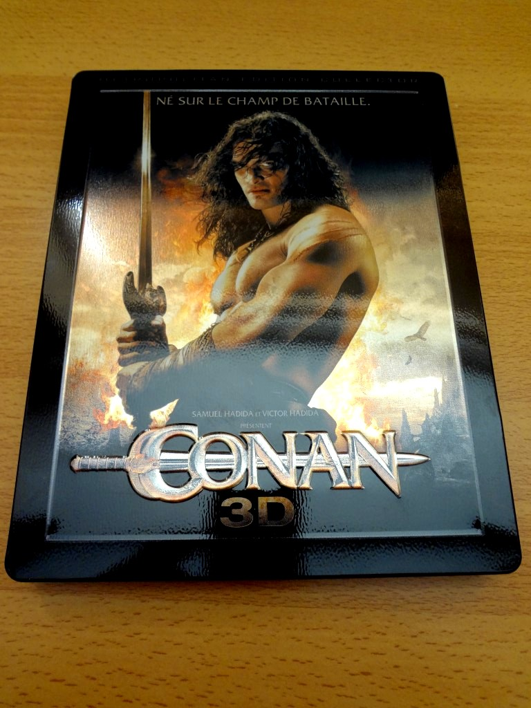 Conan 3D French Embossed Steelbook Front