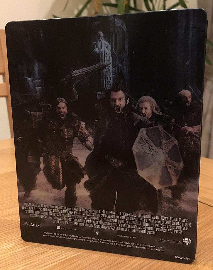 Le Hobbit  La Bataille des Cinq Armees steelbook uk2