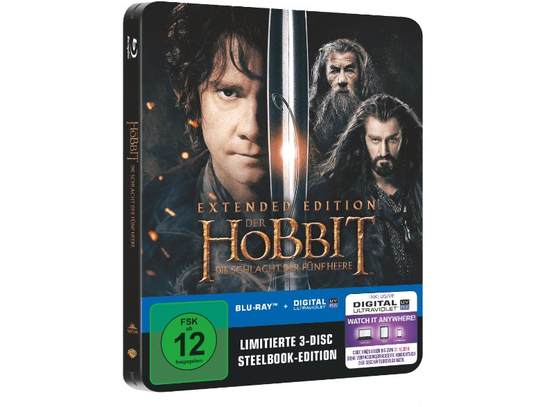 The Hobbit 3 Extended steelbook