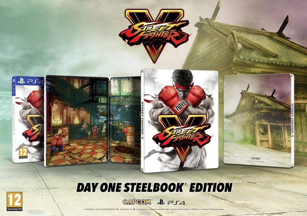 street fighter 5 steelbook