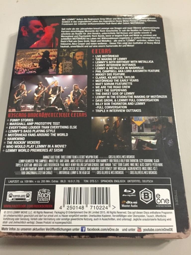 Lemmy movie steelbook 2