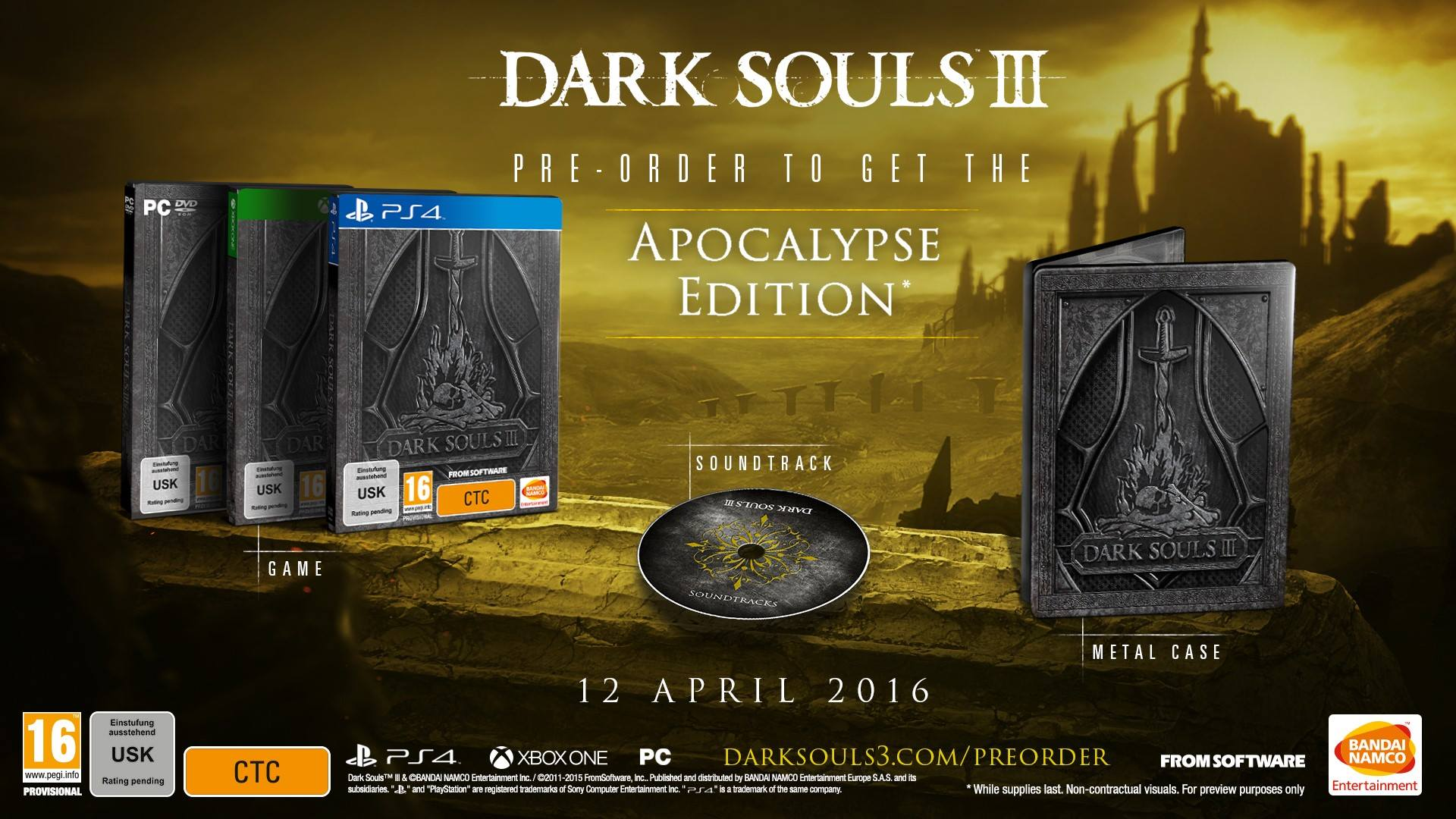 dark souls 3 steelbook