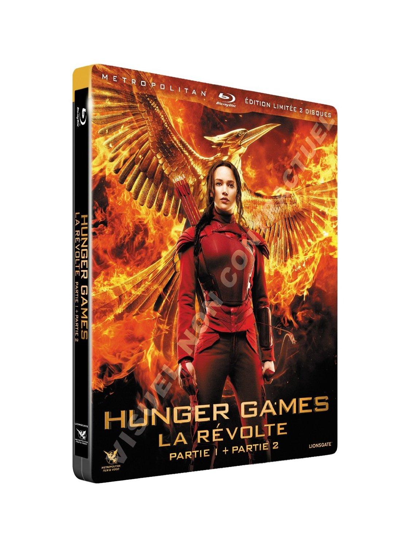 Hunger Games Mochingjay 1 & 2 steelbook fr