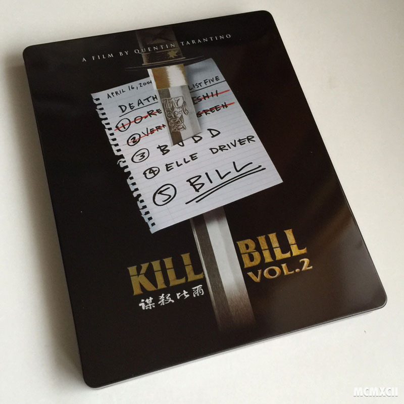 Kill Bill Volume 2 Steelbook Zavvi