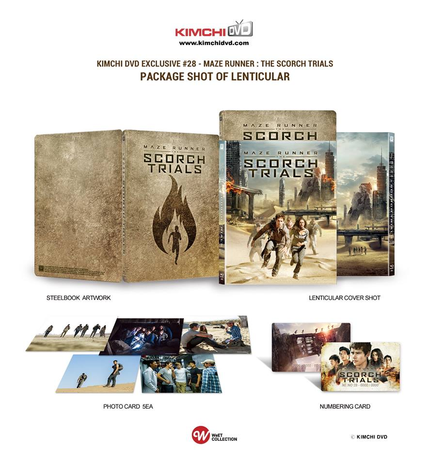 Scorch Trials steelbook kimchidvd