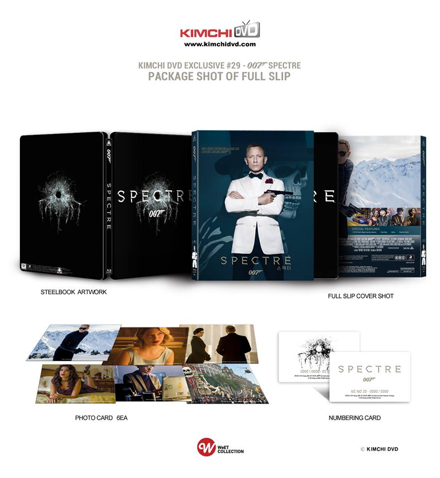 Spectre steelbook kimchiDVD