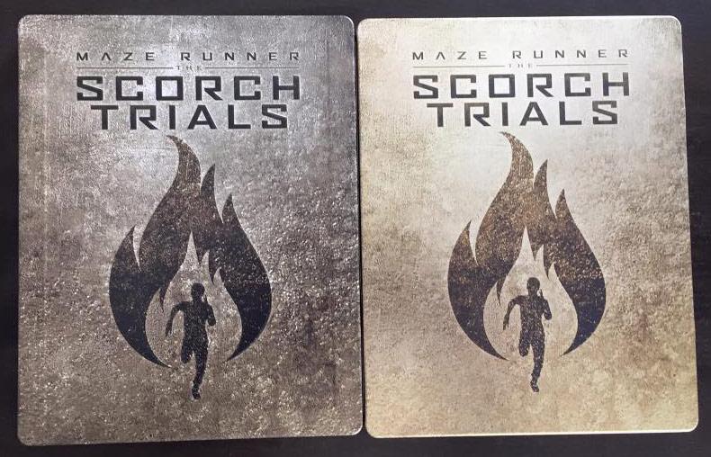 Scorch Trial steelbook US vs Eur 1