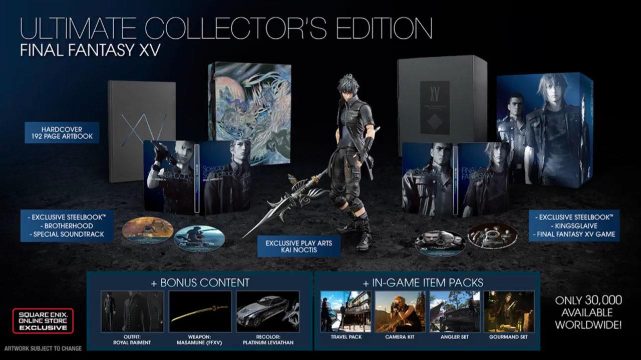 Final Fantasy XV edition collector steelbook
