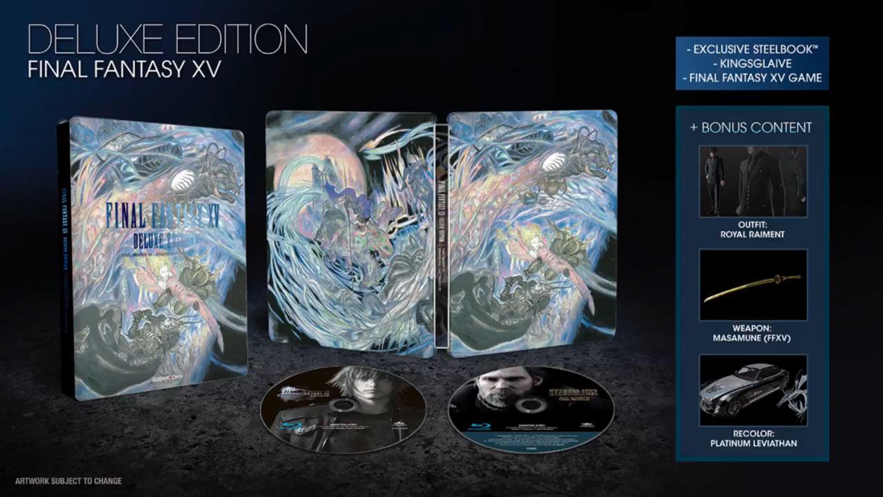 Final Fantasy XV edition deluxe steelbook