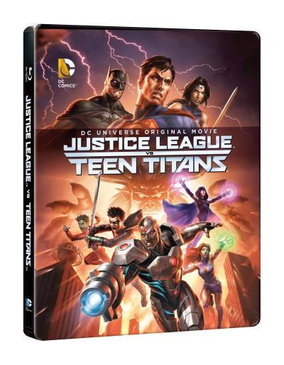 Justice League vs Teen Titans steelbook