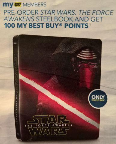 Star Wars The Force Awakens steelbook