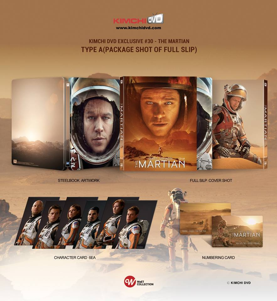 The Martian steelbook kimchiDVD type A