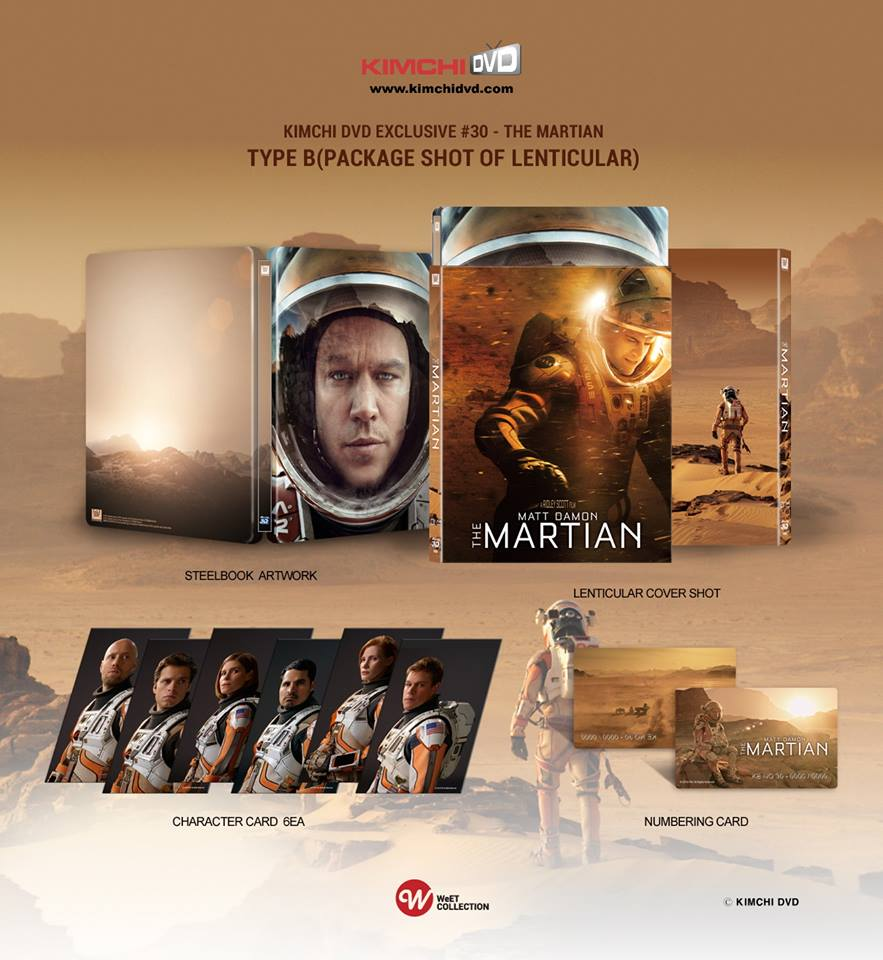 The Martian steelbook kimchiDVD type B