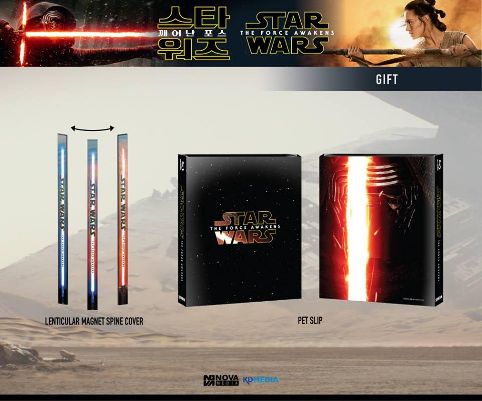 Star Wars Force Awakens steelbook novamedia gift