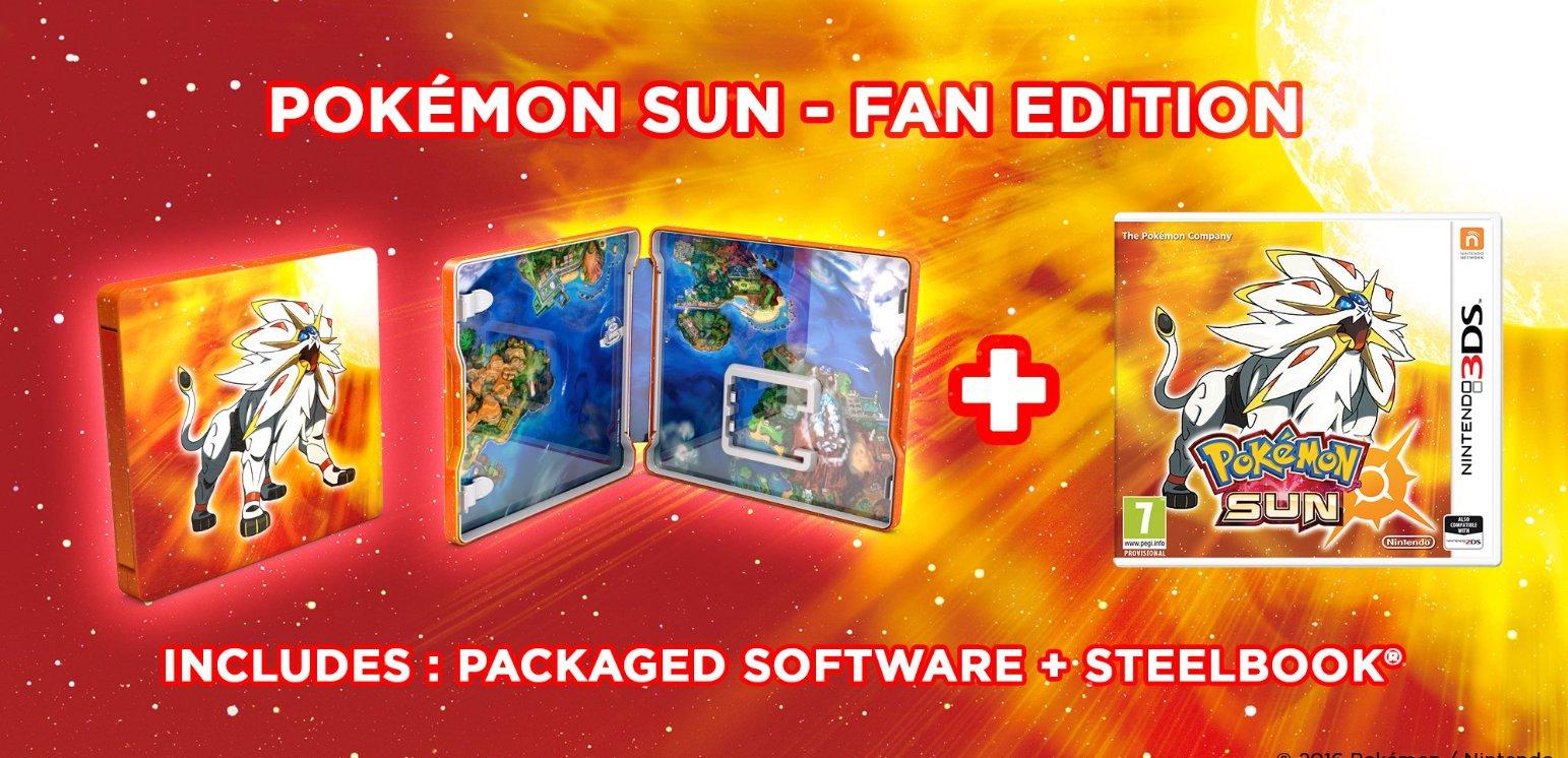 Pokemon sun steelbook