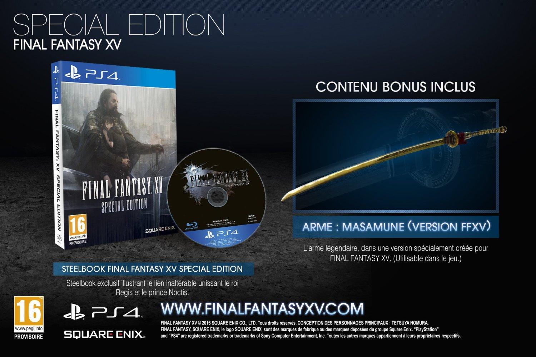 Final Fantasy XV steelbook amazon