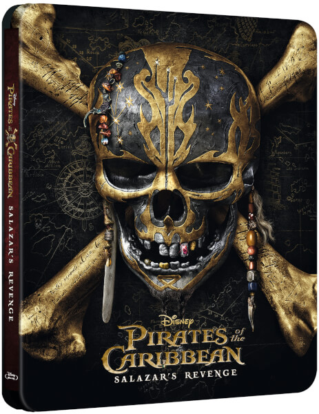 Pirates caribbean salazar revenge steelbook zavvi