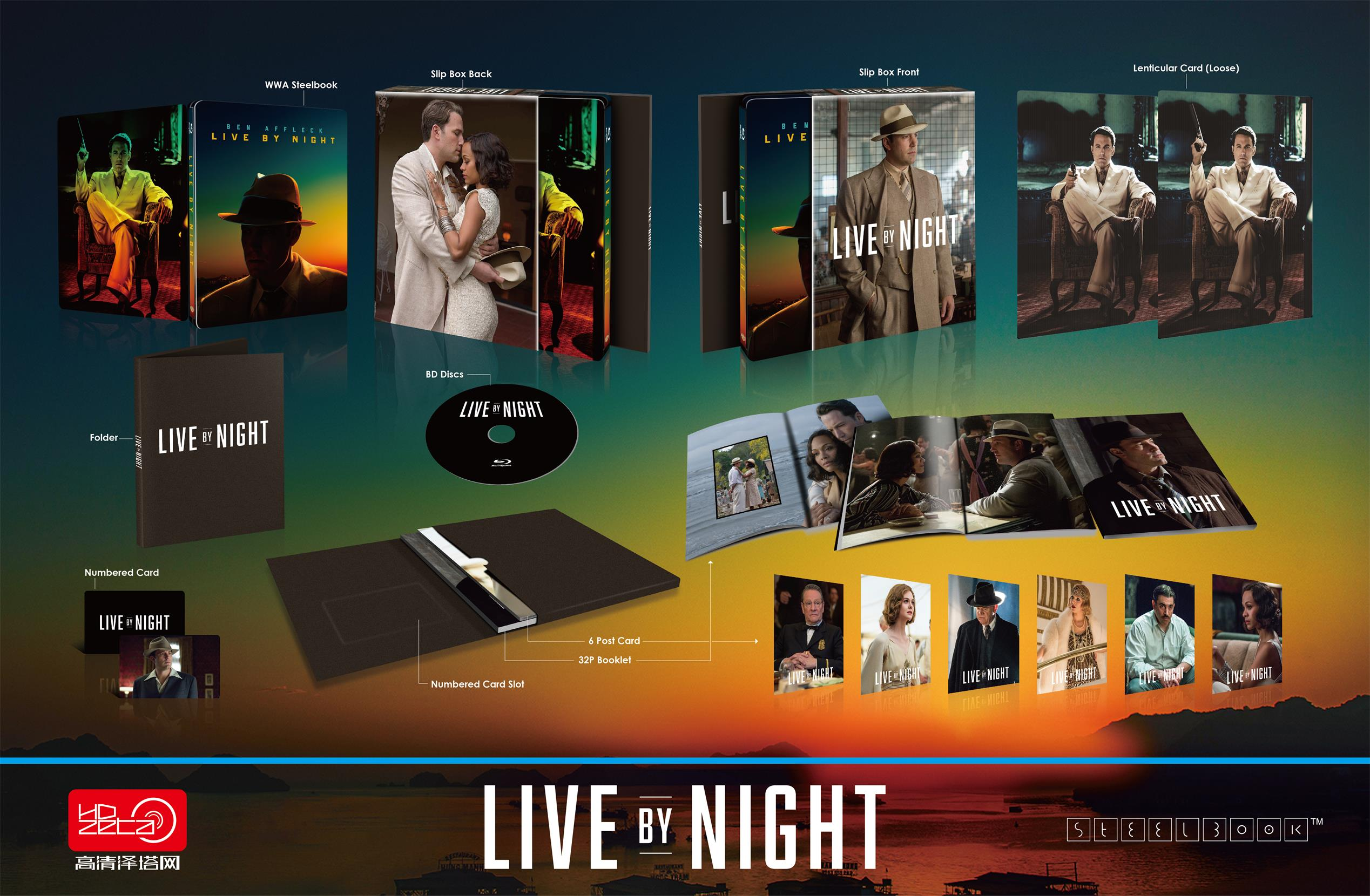 Live By Night steelbook HDzeta