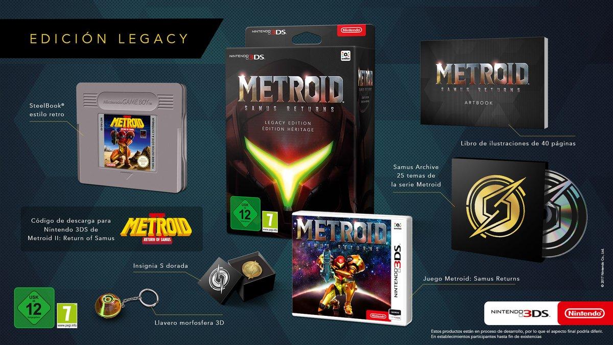 Metroid Samus Returns steelbook