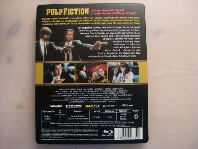 Pulp Fiction steelbook DE 2