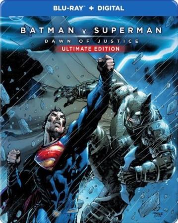 Batman V Superman steelbook illustrated