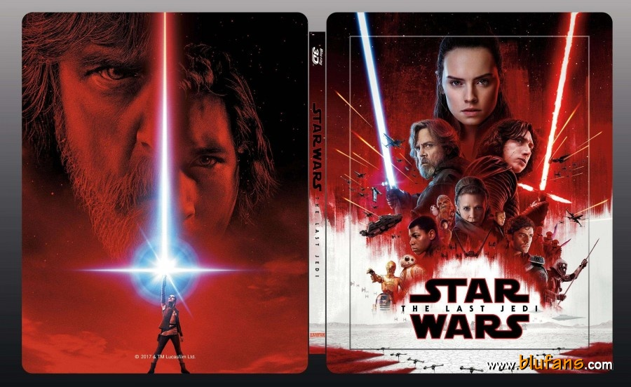 Star Wars The Last Jedi steelbook blufans