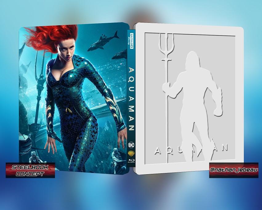 aquaman steelbook  Aquaman : un steelbook en France [MAJ: Moins cher chez BlueCats ...
