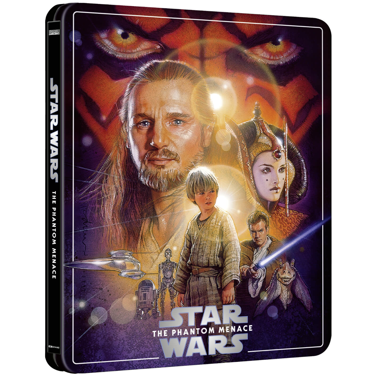 Star Wars: Episode I - The Phantom Menace (4K+2D Blu-ray SteelBook) Zavvi Star-Wars-The-Phantom-Menace-steelbook-4K-1