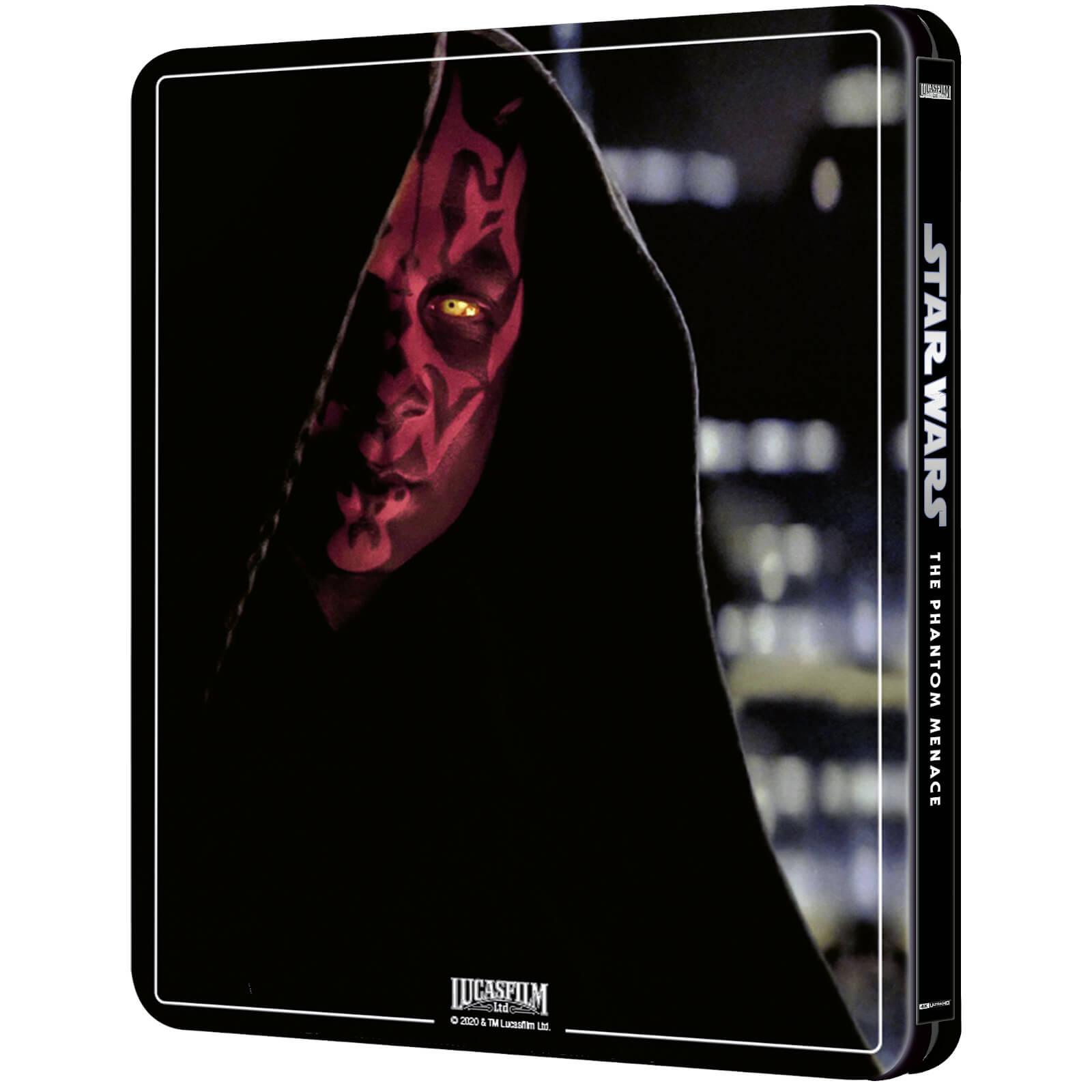Star Wars: Episode I - The Phantom Menace (4K+2D Blu-ray SteelBook) Zavvi Star-Wars-The-Phantom-Menace-steelbook-4K-2